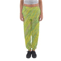 Green And Yellow Van Gogh Pattern Women s Jogger Sweatpants