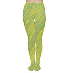 Green and yellow Van Gogh pattern Women s Tights