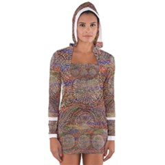 SDA1566 Women s Long Sleeve Hooded T-shirt