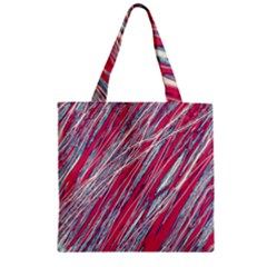Purple decorative pattern Zipper Grocery Tote Bag