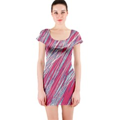 Purple decorative pattern Short Sleeve Bodycon Dress
