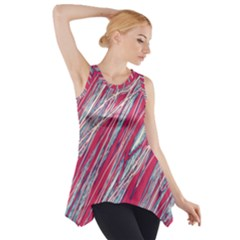 Purple Decorative Pattern Side Drop Tank Tunic