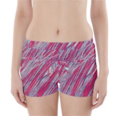 Purple decorative pattern Boyleg Bikini Wrap Bottoms