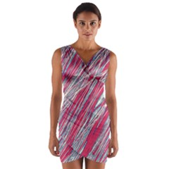 Purple decorative pattern Wrap Front Bodycon Dress