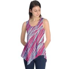 Purple decorative pattern Sleeveless Tunic