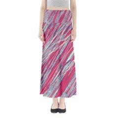 Purple decorative pattern Maxi Skirts