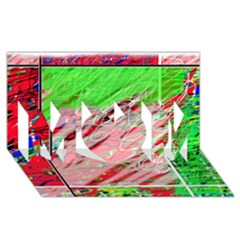 Colorful pattern MOM 3D Greeting Card (8x4)