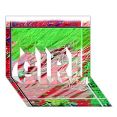 Colorful pattern GIRL 3D Greeting Card (7x5)