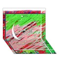 Colorful pattern Circle 3D Greeting Card (7x5)