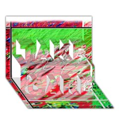 Colorful pattern TAKE CARE 3D Greeting Card (7x5)
