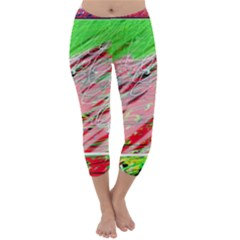 Colorful Pattern Capri Winter Leggings