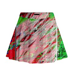 Colorful Pattern Mini Flare Skirt