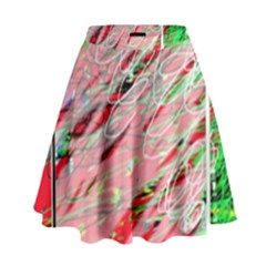 Colorful Pattern High Waist Skirt