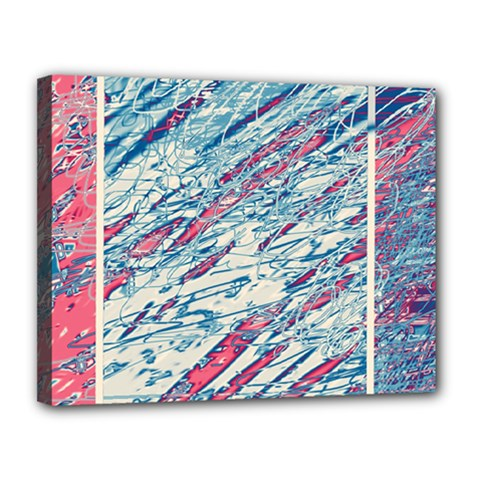 Colorful Pattern Canvas 14  X 11