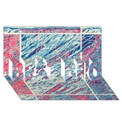 Colorful pattern BEST BRO 3D Greeting Card (8x4)