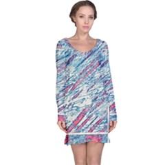 Colorful pattern Long Sleeve Nightdress