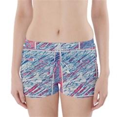Colorful pattern Boyleg Bikini Wrap Bottoms