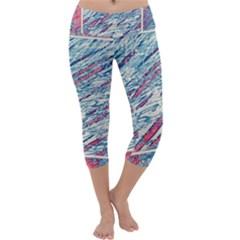 Colorful Pattern Capri Yoga Leggings