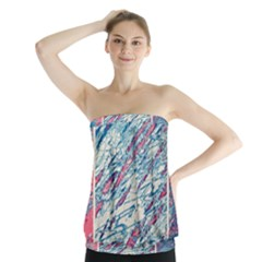 Colorful Pattern Strapless Top