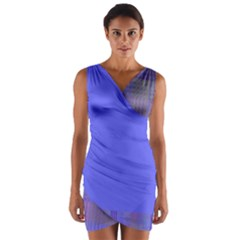 #Annabelerockz-pattern-square-purple-2 Wrap Front Bodycon Dress