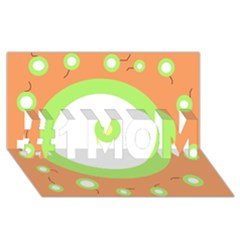 Green and orange design #1 MOM 3D Greeting Cards (8x4)