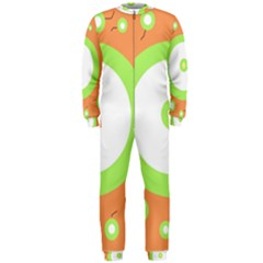 Green and orange design OnePiece Jumpsuit (Men)