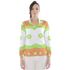 Green and orange design Wind Breaker (Women)