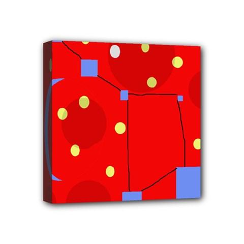 Red sky Mini Canvas 4  x 4