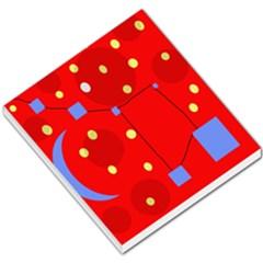 Red sky Small Memo Pads