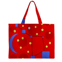 Red sky Zipper Mini Tote Bag