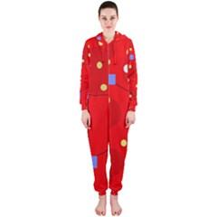 Red sky Hooded Jumpsuit (Ladies)