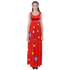 Red sky Empire Waist Maxi Dress