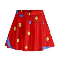 Red Sky Mini Flare Skirt