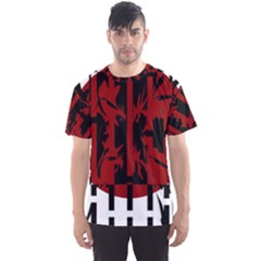 Red, black and white decorative abstraction Men s Sport Mesh Tee