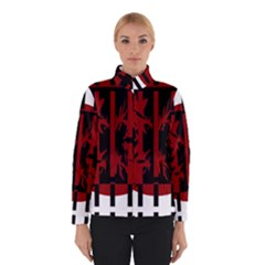 Red, black and white decorative abstraction Winterwear