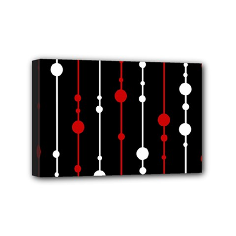 Red black and white pattern Mini Canvas 6  x 4