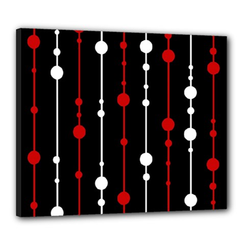 Red black and white pattern Canvas 24  x 20