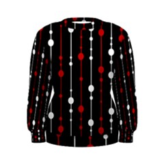 Red black and white pattern Women s Sweatshirt