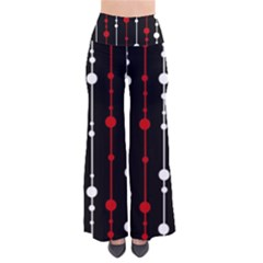 Red black and white pattern Pants