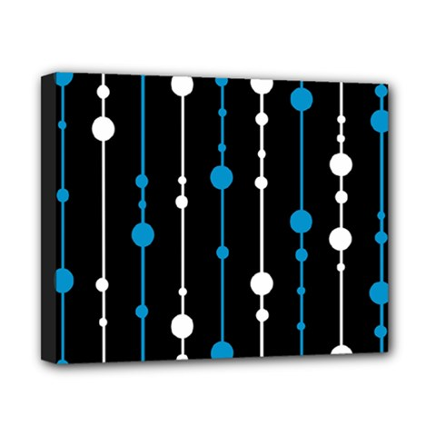 Blue, white and black pattern Canvas 10  x 8