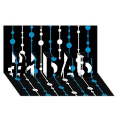 Blue, white and black pattern #1 DAD 3D Greeting Card (8x4)