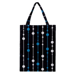 Blue, white and black pattern Classic Tote Bag