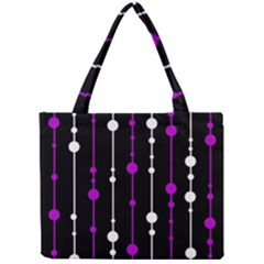 Purple, black and white pattern Mini Tote Bag