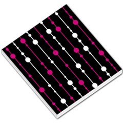 Magenta white and black pattern Small Memo Pads