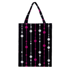 Magenta white and black pattern Classic Tote Bag