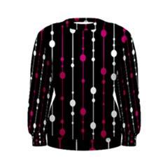 Magenta white and black pattern Women s Sweatshirt