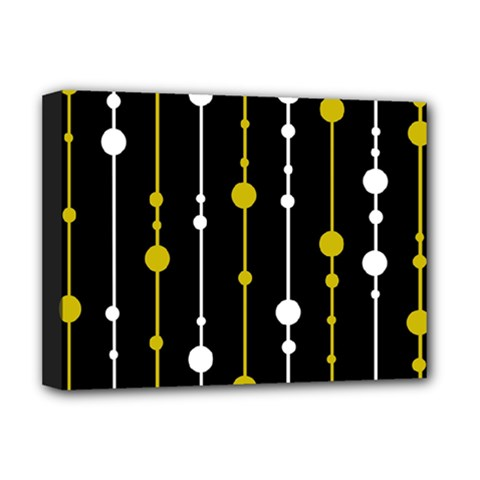 yellow, black and white pattern Deluxe Canvas 16  x 12