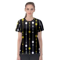 yellow, black and white pattern Women s Sport Mesh Tee