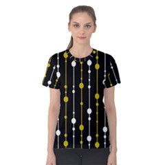 yellow, black and white pattern Women s Cotton Tee