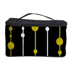 yellow, black and white pattern Cosmetic Storage Case